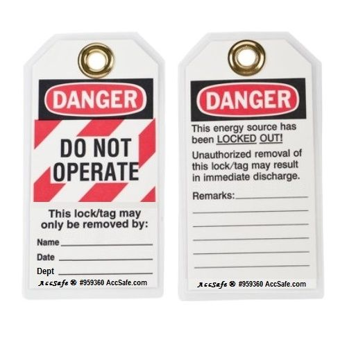 "Accsafe Lockout Tag ""do Not Operate"" With Cable Tie"