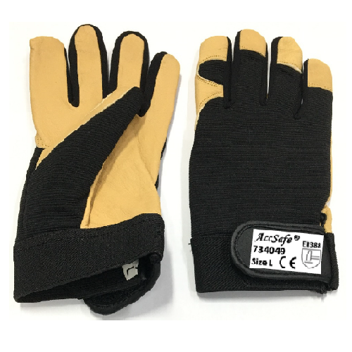 Accsafe Mechanic Leather Glove 1doz