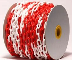 AccSafe Plastic Chain 25m Red & White