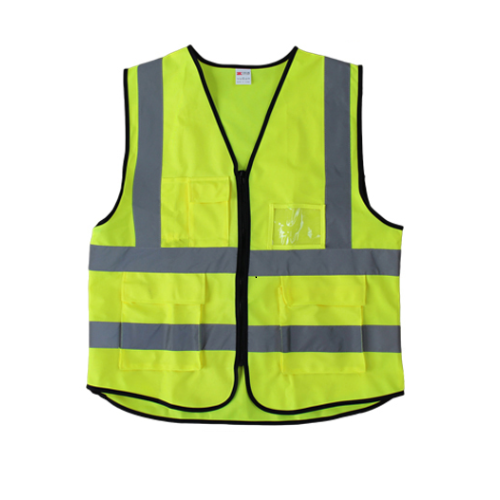 Accsafe Vb4p Safety Vest With 4 Pockets and Zip Closure
