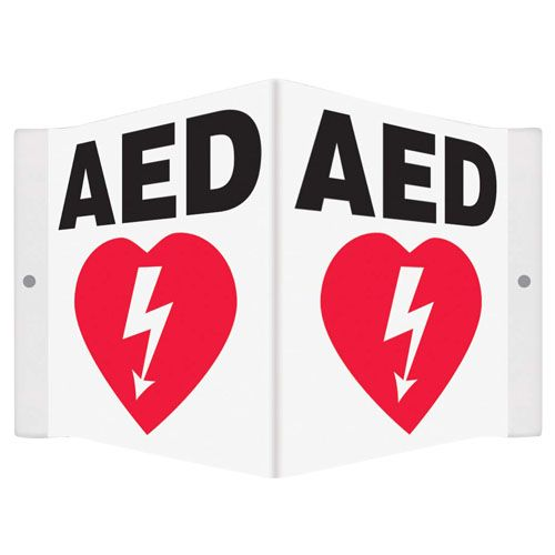 Aed Signage 3-way (triangular) 40/2403