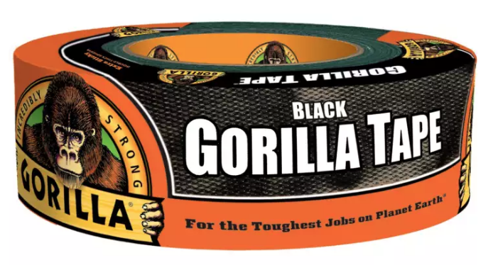 "Gorilla Tape 1.88"" x 12 Yard (Black) 60124"