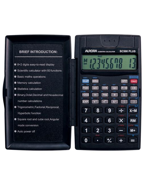 Aurora Scientific Calculator Sc500 Plus 8+2 Digits