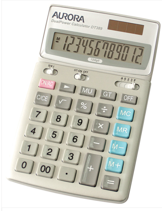 Aurora Dualpower Calculator DT389