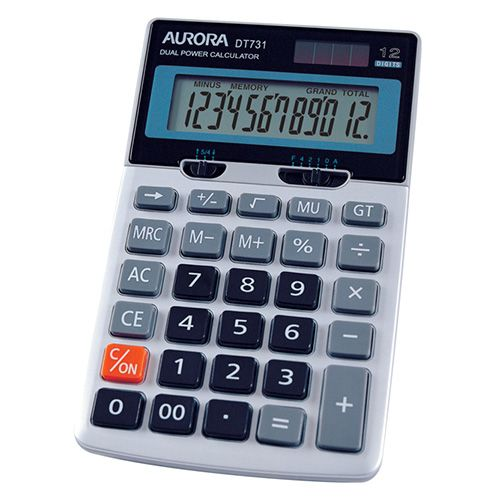 Aurora Desktop Calculator 12 Digits DT731