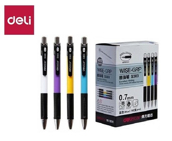Ball Point Pen - Soft Grip - Retractable