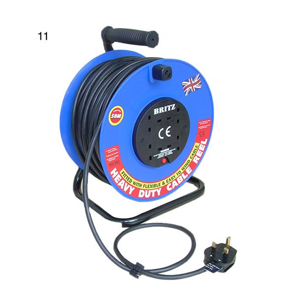 Britz Wiring Device Britz 4x13a Socket Cable Reel W/50mtr Cable