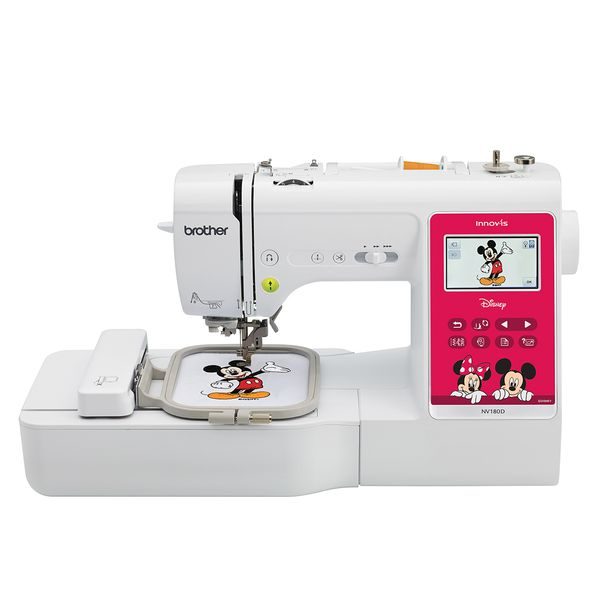Brother - 3-in-1 Sewing + Embroidery + Quilting Machine With Disney & Mickey Mouse & Winnie the Pooh Design NV180D