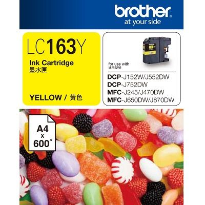 Brother Yellow Ink LC163Y