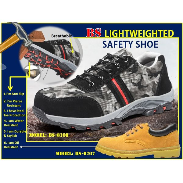 Bs Lightweight Working Safety Shoe BS-8108, 9707