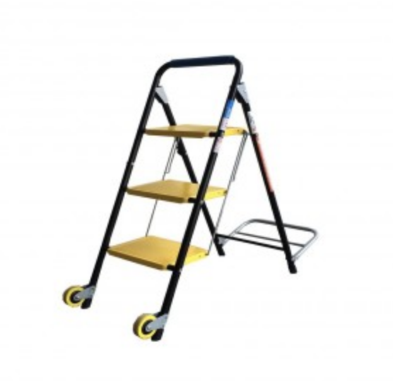 Spider Commercial / Household 3 Step Stool with Hand Trolley HYH-5623