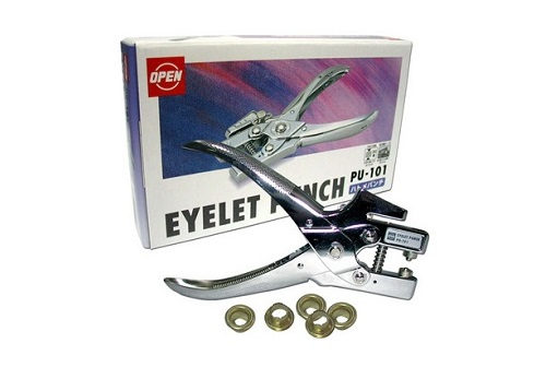 Open brand brass eyelet punching and reivets