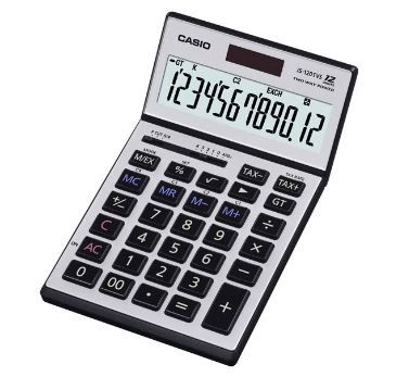 Casio Calculator JS-120TVS 12 Digits