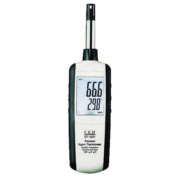 Cem DT-3321 Hygro-thermometer, Dew Point, Wet Bulb, Dry Bulb