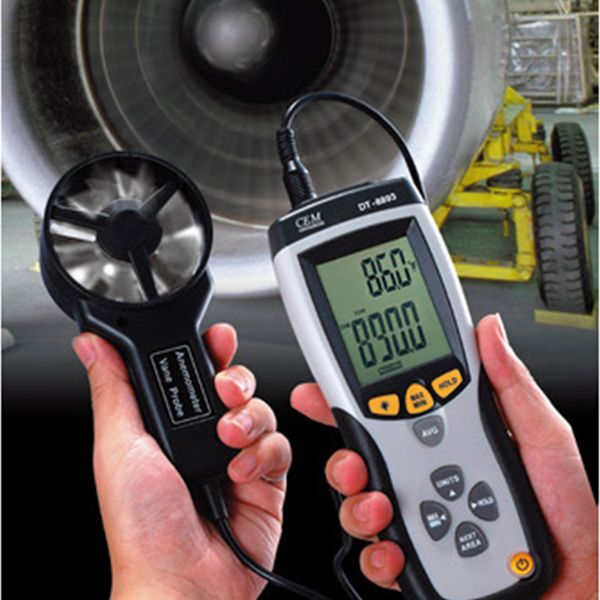Cem DT-8894 Cfm/cmm Thermo-anemometer With Infrared