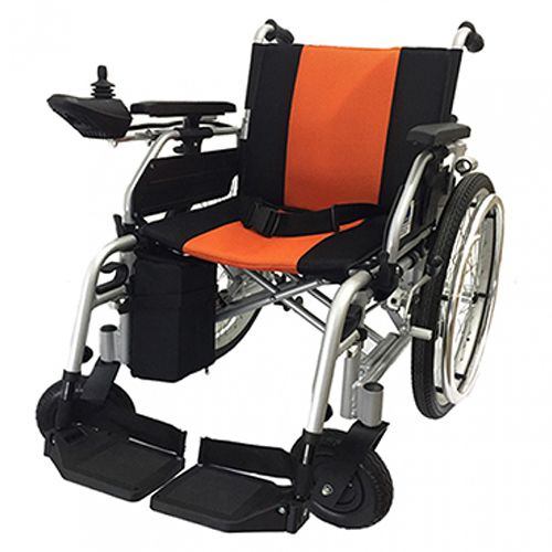 Champ Motorised Wheelchair 17ah Black/orange