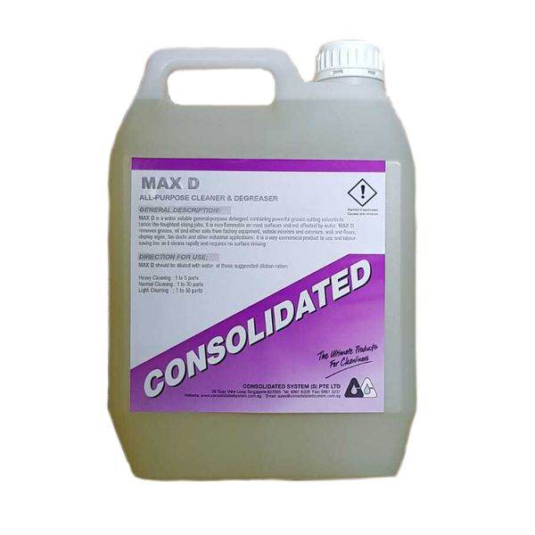 Consolidated | Heavy Duty Degreaser | MAX D | 4x5l 25l