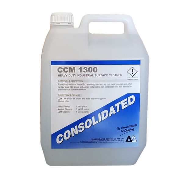 Consolidated | Industrial Degreaser & Surface Cleaner | CCM1300 | 4x5l 25l