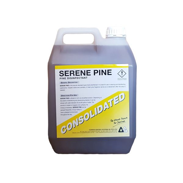 Consolidated Pine Disinfectant & Floor Cleaner | SERENE PINE | 4x5l | 25l