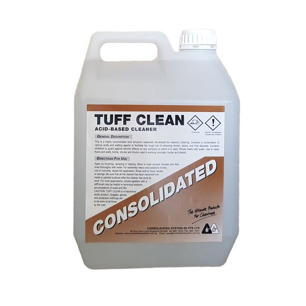 Tuff Clean 5l | Rust, Scale & Lime Remover by Consolidated
