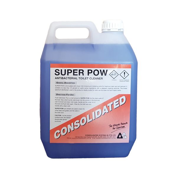 Consolidated SUPER POW | Anti Bac Toilet Bowl Cleaner | 4x5l 25l