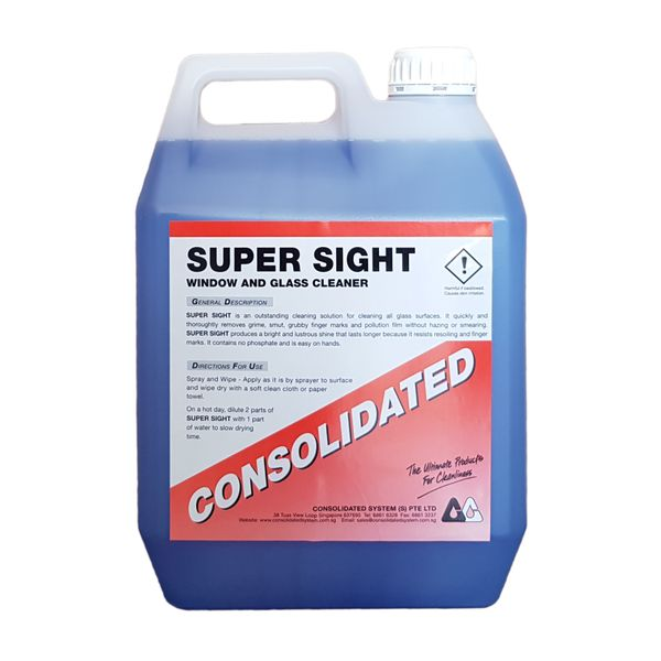 Consolidated Super Sight | Glass Cleaner | 4x5l 25l