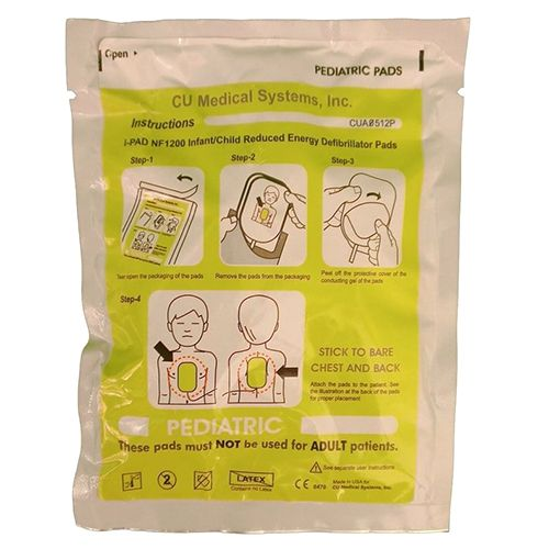 Cu Medical I-pad Nf1200 Paediatric Electrode Pads 63122
