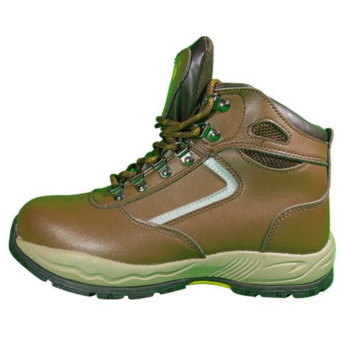 D&d Sport Type Zip-up Laced Safety Shoe Brown - 8858