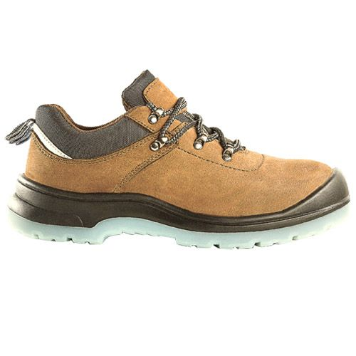 D&d Grain Leather Laced Safety Shoe Brown - 9838