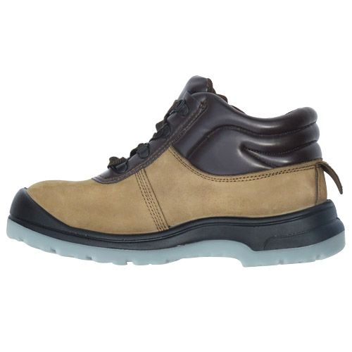 D&d Grain Leather Laced Safety Shoe Brown and Black - 9868