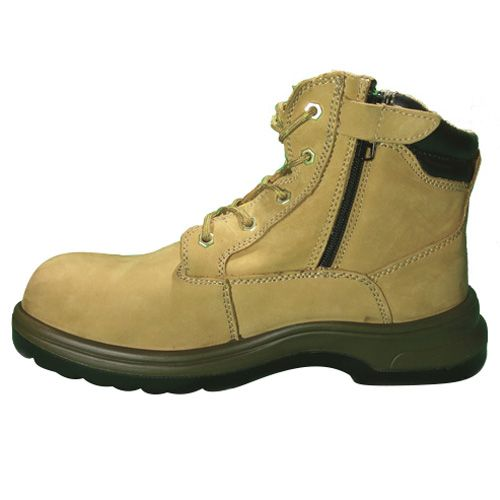 D&d Grain Leather Zip-up Laced Safety Shoe Sandal - 8878