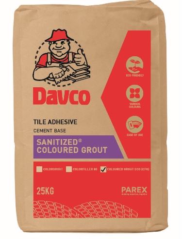 Davco Sanitized Coloured Grout Eco CFG 2 Kg