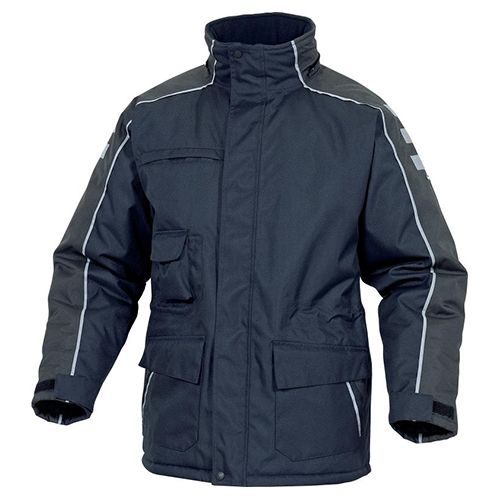 Deltaplus Pu-coated Polyester Oxford Cold Storage Parka Navy Blue