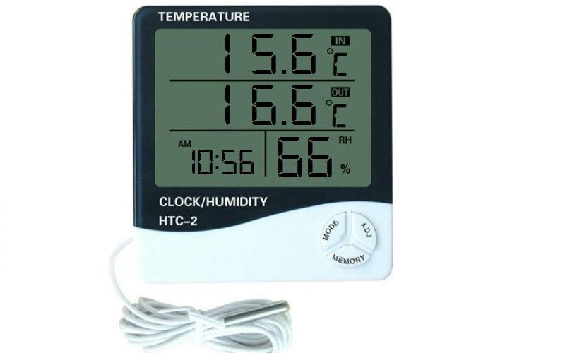Digital Thermometer - Humidity Meter (with Probe Sensor)