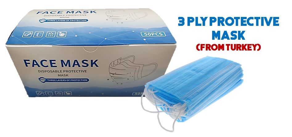 Disposal 3ply Surgical Face Mask-50pcs