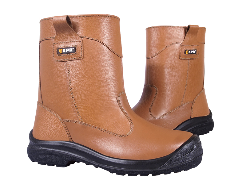 KPR L-Series High Cut Brown Rigger Safety Boots