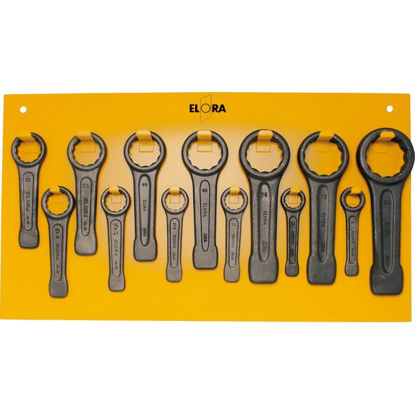 Elora 86S-13 Slogging Wrench Set Complete With Yellow Backing Board