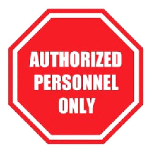 Ergomat Durastripe Authorized Personnel Only Sign