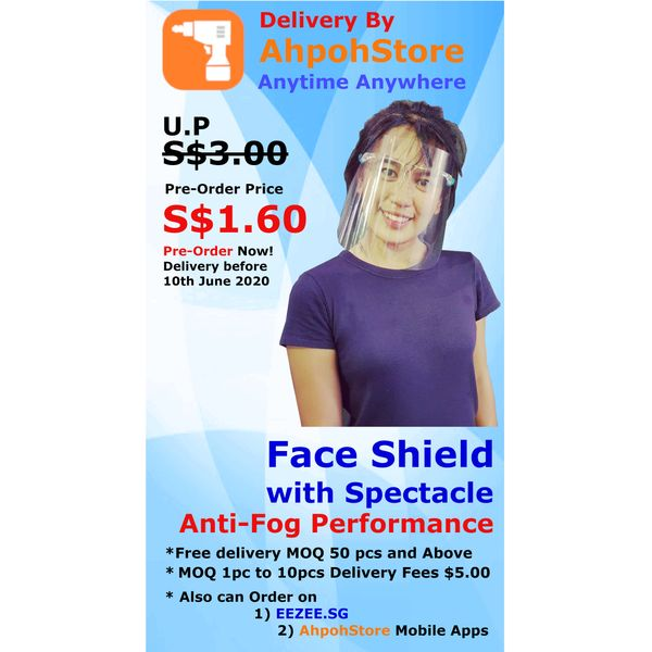 Faceshield With Spectacle Anti-fog Performance - Pre-order Delivery Before 10th June 2020