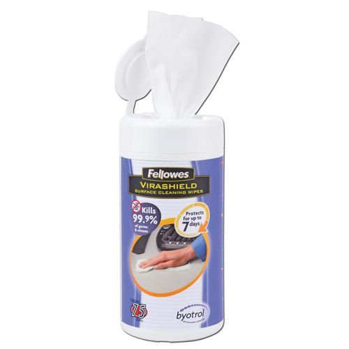 Fellowes 100 Antibacterial Screen Cleaning Wipes 2211701
