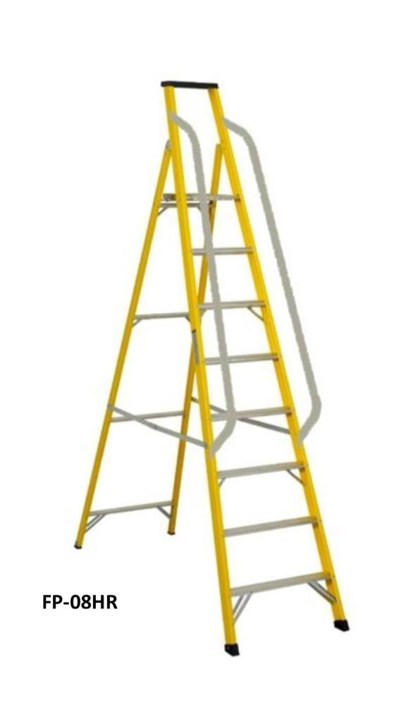 Fujiplus Fiberglass Platform Step Ladder With Handrail FP Series
