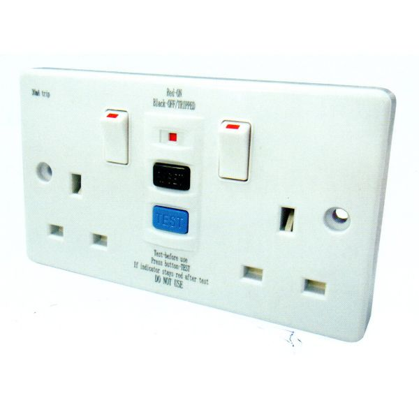 Fym -abc Series Rcd Twin Switched Socket Outlet