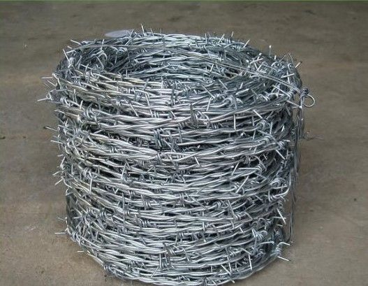 Galvanized Barbed Wire Double Strand 2.5mm x 20mm