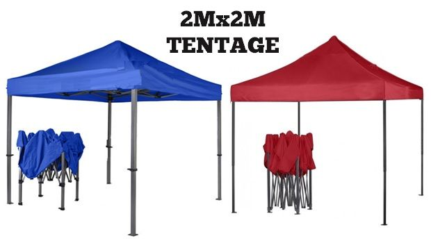 Gazebo/ Tentage for Outdoor Site 2mx2m- Blue and Red