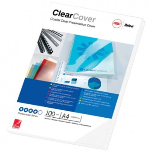 Gbc Ibico Binding Cover Clear A4 0.18 Mm Clear