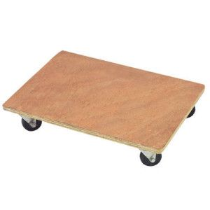 Heavy-duty Flatbed Wooden Dolly Trolley 3.0ft