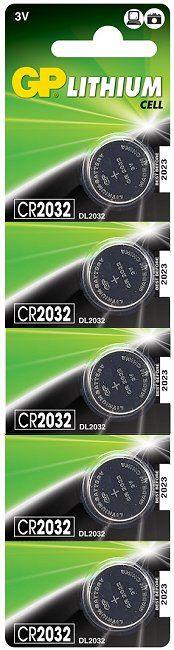 Gp Lithium Battery 3v (cr2032) 5pc/card