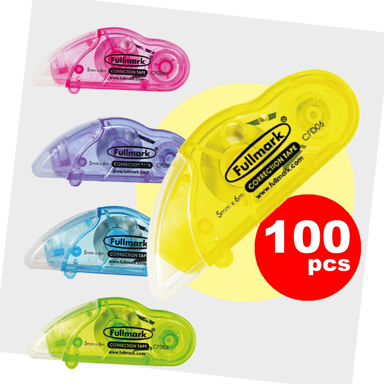 Fullmark Model D Correction Tape Gift Box 100pack - 5mm X 6m each