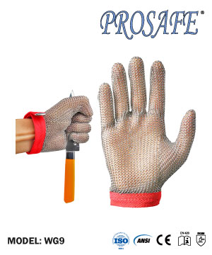 Prosafe Stainless Steel Wire Mesh Protection Glove WG9