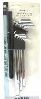 Sanjo Ball Hex Key Xl 1.5-10 Mm 10 Pieces/pack - 732010